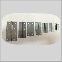 Cheap Bright Unpolished Heavy Duty Garden Gate Hinges , Ms Cabinet Door Hinges High Security for sale