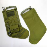 China New Green Christmas Decoration Gifts Tactical Christmas Stocking with molle gear on sale