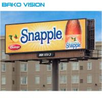 Cheap SMD3535 Led Billboard Screen , P10 IP65 Led Curtain Screen For Fixed Installation for sale