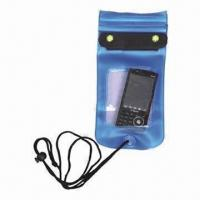 Cheap Waterproof Mobile Phone Bag, Made of PVC for sale