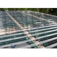 Cheap Transparent Corrugated Polycarbonate Sheets For Roof Covering 0.8 - 1mm Thickness for sale