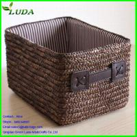 Cheap straw woven storage basket for sale