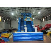 Cheap Digital print inflatable Naval Air Force Helicopter standard slide inflatable high dry slide for Children under 15 years for sale