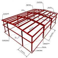 Cheap ASTM Warehouse Steel Structure / Prefab Steel Workshop With Free Design for sale