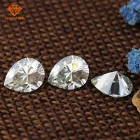 China Pear cut synthetic diamond,white diamonds vvs1, gh diamond color moissanite stone on sale