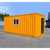 Cheap Orange Prefabricated Shipping Container Homes For Flatpack Office Living Room Residential for sale