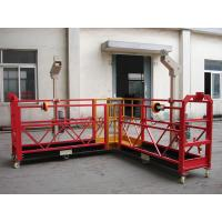 Cheap 90 Degree Red Steel Rope Suspended Window Washing Platform Cardle 3KW × pcs for sale