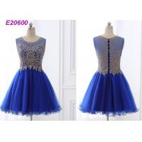 Cheap Beautiful A Line Blue Cocktail Dresses , Special Occasion Formal Cocktail Dresses for sale
