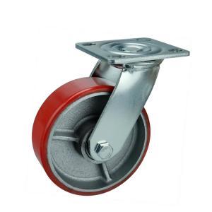 Cheap Stem Heavy Duty PU Caster Wheels / Industrial Polyurethane Roller Wheels for sale