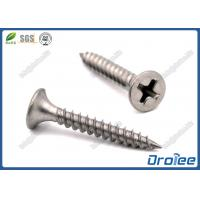 Cheap 304/18-8 Stainless Steel Philips Bugle Head Fine Thread Drywall Screws for sale