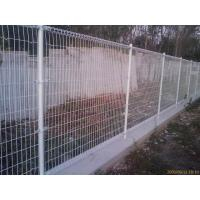 Low carbon steel double ringed protection fence with ground plug anchor