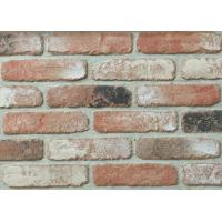 Cheap 5D20-6 Indoor Faux Brick Wall Panels , Clay Exterior Brick Tiles For Walls 210x55x12mm wholesale