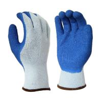 Buy cheap L1108 10 Gauge Grey Polyester Liner, with Blue Latex Palm & Thumb Coating, from wholesalers