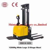 Cheap 1.4T Electric Pallet Stacker PU Wheel With 3000mm Standard Lift Height for sale