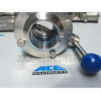 Cheap Sanitary Stainless Steel Butterfly Valve with Weld Ends (ACE-DF-2D) for sale