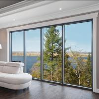 Cheap Fabricated aluminium Glass fixed Awning Windows and doors for sale