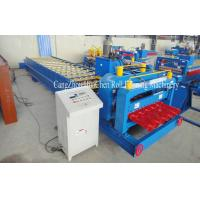 Quality High Speed Steel Glazed Roll Forming Equipment With Hydraulic Press And Cut System wholesale