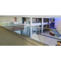 Cheap U base channel glass railing with laminated glass aluminum channel for veranda for sale