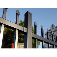Cheap Steel Hercules Security Fencing Slanted Tubular Palisade Fences Ornamental Wrought Iron Panels for sale
