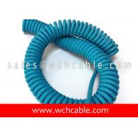 China UL20281 Quick Recall Pure Copper Wire Screened Spiral Cable 80C 250V on sale