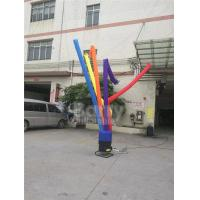 Cheap Single Leg Inflatable Sky Dancer / Inflatable Air Tube Man For Advertising for sale