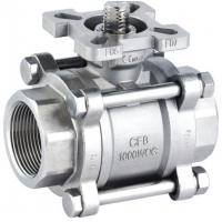 """Screwed End High Mounting Pad ISO 5211 Ball Valve Wcb / 304 / 316 1/2 """" - 4 """" 1000wog"""