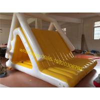 Cheap yellow and white colours lake water slide toys for sale for sale