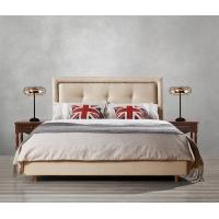 Cheap Fabric Upholster padad Headboard Queen Bed Leisure Bedroom Furniture in American design Apartment Bedroom interior fit for sale