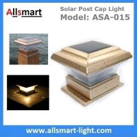 Buy cheap Square Apricot Solar Post Caps Light Outdoor Solar Fence Lamp Stake Timber Pile Lighting Solar Powered Pillar Gate Lamp from wholesalers