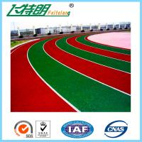 Cheap Durable Outdoor Sports Flooring All Weather Running Track Self - Knot Pattern for sale
