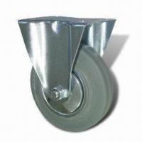 Cheap Medium-duty Caster, Gray Rubber Plastic Core Caster with 85, 100, 125, 160 and 200mm Brake Diameter for sale