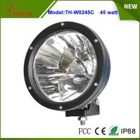Cheap 7 inch 45W Round LED Work Light in Spot Beam for Truck,Jeep,SUV, Offroad UTE 12V or 24V DC for sale