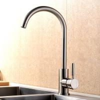 Cheap Durable Single Handle Kitchen Faucet Brushed Plated Finishing Simple Style for sale