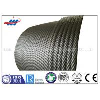 Cheap Hot Dipped Galvanized Steel Wire Rope For Building , 19x7 Non Spin Wire Rope Cable for sale