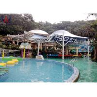 Cheap White Tension Fabric Canopy Commercial Shade Structures With Light Transmitting wholesale