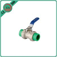 China High Pressure PPR Ball Valve Brass Drain Cock 20 Mm - 63 Mm Welding Connection on sale