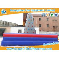 Cheap Square Inflatable Sport Games , Inflatable Rock Climbing Wall For Commercial Events for sale