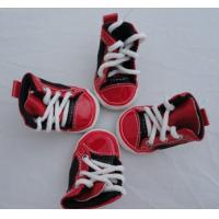 Cheap Big Size Red pet dog shoes PS06 With canvas / PVC for Summer Non-slip for sale