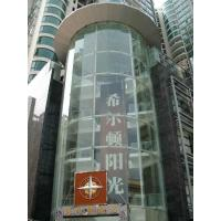 China 4mm - 19mm Structural Glass Curtain Wall , Reflection Colored Tempered Safety Glass on sale