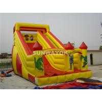 Cheap Mickey Mouse and Donald Duck Fair Giant Inflatable Commercial Slide With Durable PVC Fire-retardant for sale