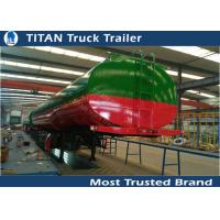 Cheap 42000 Liters Fuel semi tanker trailer with European system for bad road condition for sale