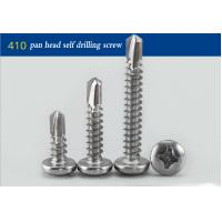 "Cheap Black Oxide Round Head Stainless Steel Self Drilling Fasteners Full Thread # 14 X 1 "" for sale"