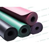 China Eco Foldable Pure Fitness Yoga Mat / Gym Green Pu Yoga Mat Easy Clean on sale