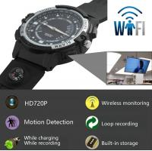 Quality Y30 8GB 720P WIFI P2P IP Spy Watch Hidden Camera Recorder IR Night Vision Motion wholesale