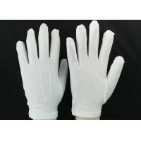Buy cheap Bleached White Lint Free Gloves 23g / Pair Weight 100D Yarn Good Moisture Absorbency from wholesalers