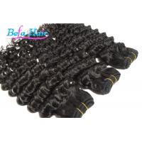 "Cheap Nice 12"" 14"" Deep Wave Cambodian Hair Bundles Double Wefted Hair Extensions for sale"