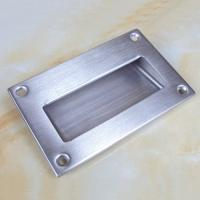 Cheap Large size125x83mm stainless steel flush hidden door pull handle for sale
