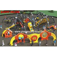 Cheap Outdoor Kids Climbing Equipment , Childrens Climbing Equipment With Frames And Climbing Security Fence for sale