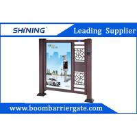 Cheap Fast Speed Brown Color Automatic Swing Gates For School Parking Entrance for sale