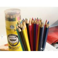 Buy cheap High Quality Triangle Shape Colors Art Black Wood Color Pencils from wholesalers
